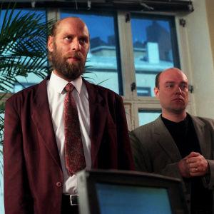 Vesa Vierikko ja Pertti Sveholm ohjelmassa Jumalainen lahja vuonna 1997.