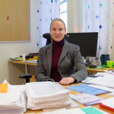 Kruunupyyn kunnanjohtaja Malin Brännkärr.
