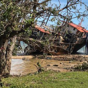 Förödelsen efter cyklonen på Vanuatu 6.4.2020