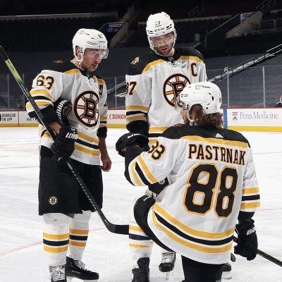 Philadelphia fick inte bukt på Bostons förstakedja med Brad Marchand, Patrice Bergeron och David Pastrnak.