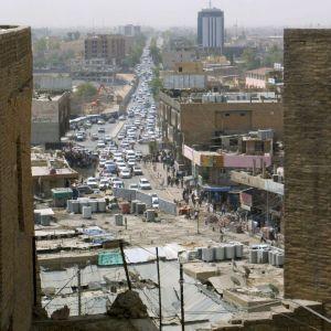 Vy i staden Arbil i norra Irak
