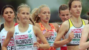 Nathalie Blomqvist under U19-EM sommaren 2018.
