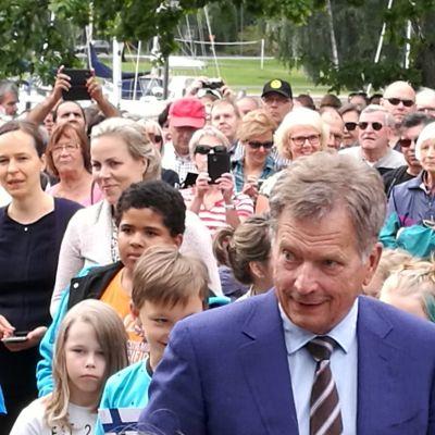 Sauli Niinistö Uudessakaupungissa 16.8.2017.