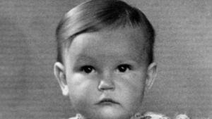 Tuva Korsström som liten i slutet av 1940-talet.