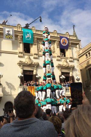 Castell (3de10fm) på Plaça de la Vila i Vilafranca del Penedès