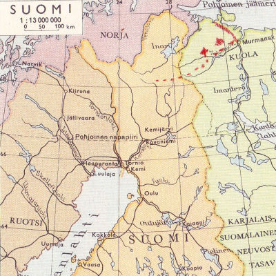 karta över Finland