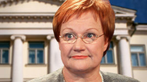 Presidenttiehdokas Tarja Halonen vuonna 2000