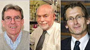 Jean-Pierre Sauvage, Sir J. Fraser Stoddart och Bernard L. Feringa fick Nobels kemipris 2016