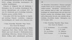 Helena Westermarcks bok Finlands första kvinnliga läkare Rosina Heikel - kvinnospår i finländskt kulturliv (1930).