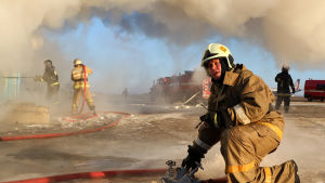 Brandmän i Ryssland.