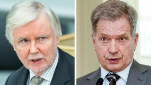 Erkki Tuomioja och Sauli Niinistö
