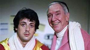 Sylvester Stallone mad Burgess Meredith.