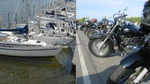 Segelbåtar och motorcyklar