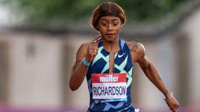 Sha'Carri Richardson löper 100 meter.