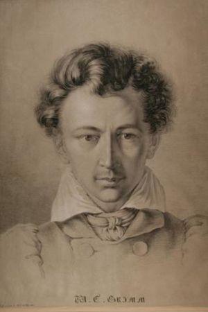Porträtt av Wilhelm Grimm.