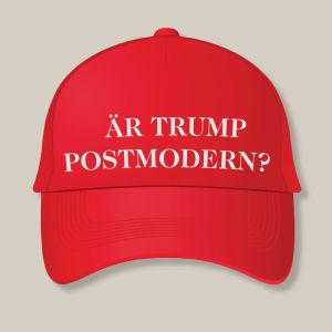 Donald Trumps MAGA-hatt med ny text på bokomslag: Är Trump postmodern?