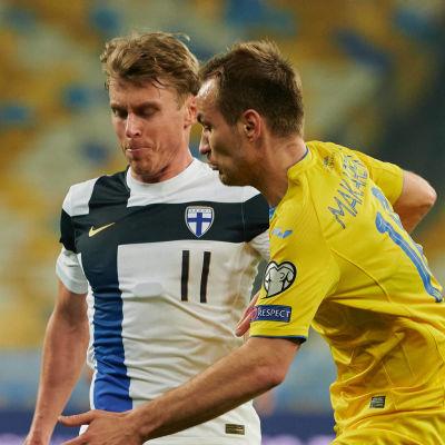 Rasmus Schüller i VM-kval mot Ukraina.