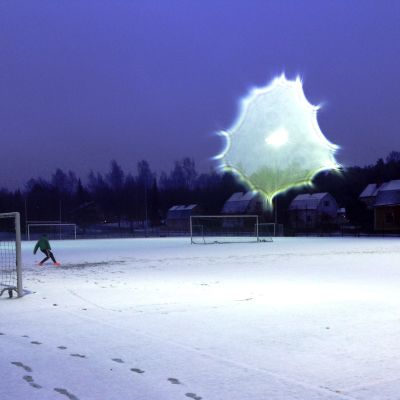 Fotboll i snöväder