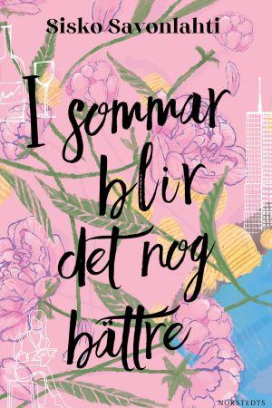 Rosa bokomslag med blommor för Sisko Savonlahtis bok i översättning.