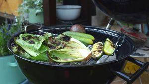 Grönsaker på grill.