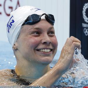 Fanny Teijonsalo i OS-bassängen.
