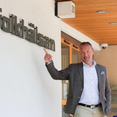 Johan Johansson blir vd för Folkhälsans nygrundade fastighetsbolag.
