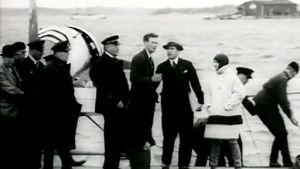 Charles Lindbergh Katajanokalla (1933).