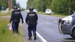 Polisoperation i Pelkosenniemi i Lappland den 26 juni 2016.