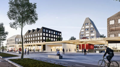 Arkitekturbyrån MUUANs vision över Nickby nya järnvägsstation.