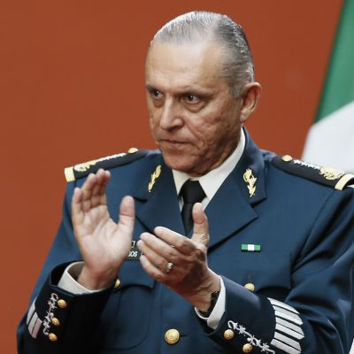 Salvador Cienfuegos Zepeda toimi Meksikon puolustusministerinä vuosina 2012-2018. Kuva vuodelta 2016.