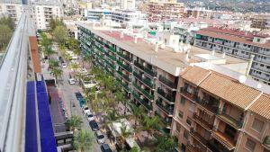Hotell i Fuengirola, Spanien, under utegångsförbudet mars 2020 pga coronaviruset.