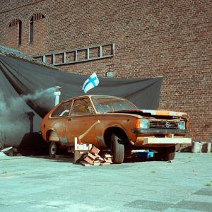 Opel Kadett bastu som vi byggde i Holland.