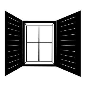 Fönstret är en symbol för öppenhet.
