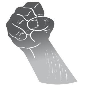 Knytnäven är en symbol för hat och missnöje.