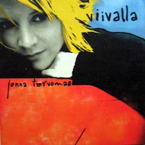 Skivomslag av Jonna Tervomaas skiva Viivalla