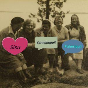 Lärarna från Korpilahti: Heinonen, Jaakkola, Siltala, Ahonen och Järvinen på utfykt.