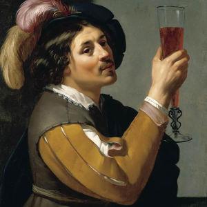 Jan van Bijlerts - Ung man dricker ett glas vin