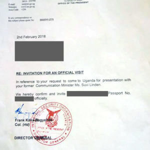 Det brev som affärsmannen hade med sig sägs vara förfalskat.