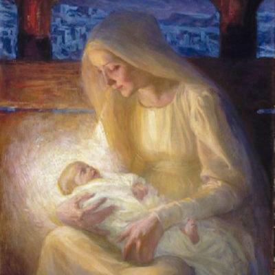Målningen Maria med barnet av Albert Edelfelt.