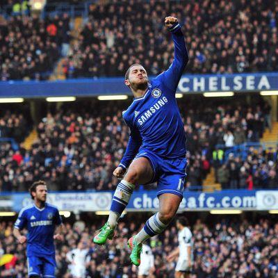 Chelsean Eden Hazard tuulettaa.