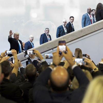 Presidentti Donald Trump Davosin kokouksessa