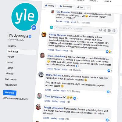 Kuvakaappaus Yle Jyväskylän Facebook-sivulta.