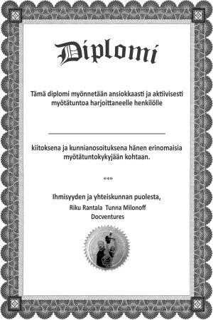 Diplomi, mustavalkoinen