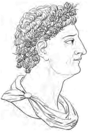 Apicius porträtt av Alexis Soyer från 1800-talet.