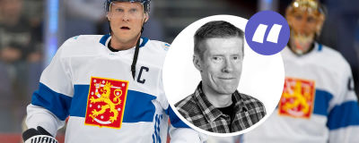 Mikko Koivu i landslagsuniform.