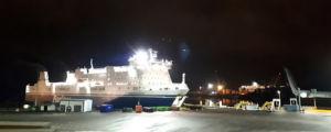 M/S Finnfellow i Nådendals hamn.