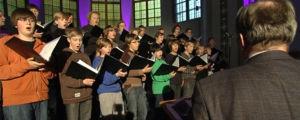 Cantores Minores övar i Berghälls kyrka