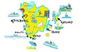 Kuvakartta Etelä-Ruotsista