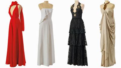Anne Pohtamo-Hietanens klänningar på utställning.