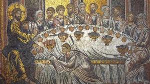 Mosaik av Jesu sista måltid